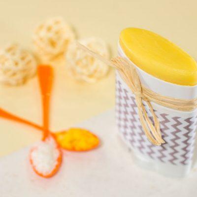 Image produit - Recette cosmétique Barre de massage Miel, coco & orange