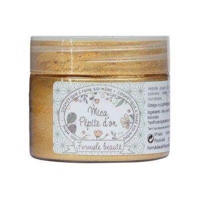 Mica naturel pépites d'or pour la cosmétique maison