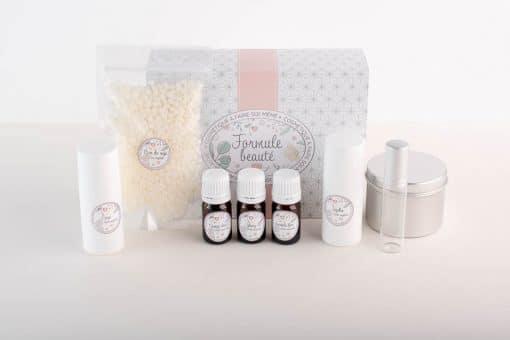 Kit cosmétique maison pour fabriquer stick et bougie