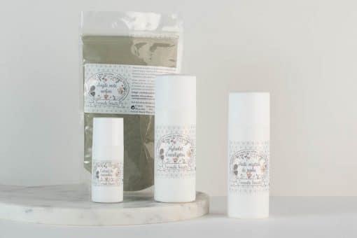 Pack d'ingrédients naturels pour le soin des peaux grasses