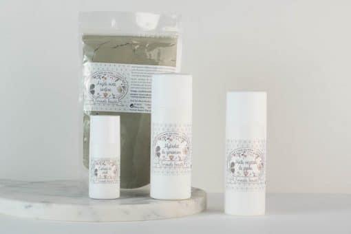 Pack d'ingrédients naturels pour le soin des peaux mixtes