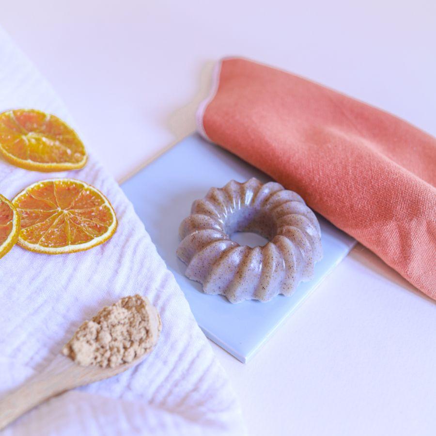 Savon exfoliant orange